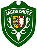 Waidmannsbruecke Unisex– Erwachsene Jagdschutz Schleswig Holstein Autoschild, Grün, One Size