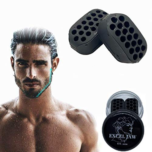 Jawline Exerciser,Jaw Workout & Jaw Exerciser,Jaw Trainer Neck and Face - Define Your Jawline,Slim and Tone Your Face, Jaw Exerciser For Men & Women 2IN1 Double Chin Eliminator Reduce Stress & Craving