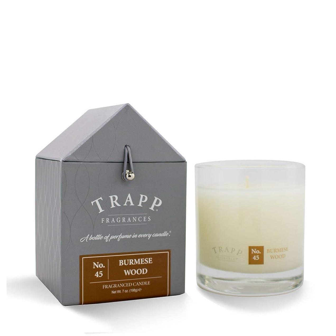 挨拶する内部製油所Trapp Candle No. 45 Burmese Wood 7oz by Trapp