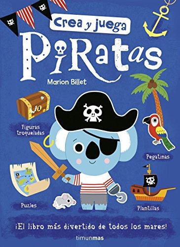 Crea y juega. Piratas (Libros de actividades)