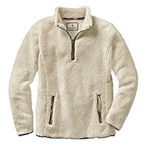 Legendary Whitetails Ladies Fuzzy Hide Fleece 1/4 Zip Winter Heather X-Large