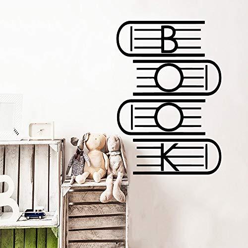 LSMYE Modernes Buch Wandaufkleber PVC Wandaufkleber Wandkunst Tapeten Wasserdichte Wandtattoos Kunsttattoos Silber XL 57cm X 83cm