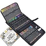 72 Pieza Set de Lápices de Colores Profesional con Estuche de Pinturas, TOYESS Lápice de Dibujo Artístico con Libro para Colorear, Borrador y Sacapuntas para Artistas, Niños y Adultos