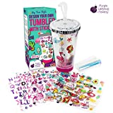 Create Your Own Personalized Tumbler for Girls with Waterproof Tumbler Stickers!...