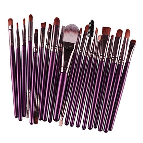 CUTICATE Ensemble de 20 Pinceaux Maquillage Cosmétique Professionnel Brush Beauté Maquillage Brosse Makeup - Café pourpre