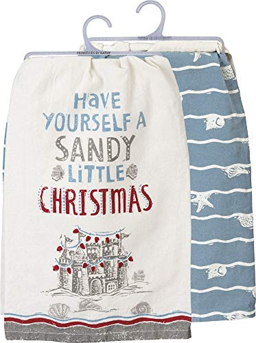 Primitives by Kathy Beach Holiday Dish Towel Set, A Sandy Little Christmas