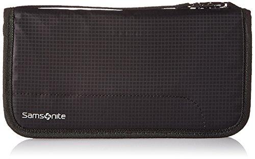 Samsonite RFID Zip Close Travel Wallet, Black, One Size