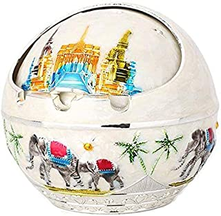 Ashtray, Ashtray European Multi-Functional Ashtray with Cover Fashion Creative Personality Trend Living Room Office Home Ashtray (Color : C),Size:G,Colour:G (Color : E, Size : E)