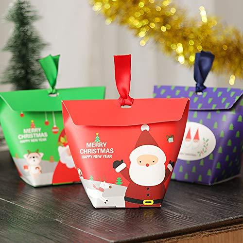 【BEAUTY PLAYER】ギフトボックス キャンディーボックス クリスマス お菓子 ラッピング ギフトラッピング クリスマス プチギフト 個包装 クリスマス チョコレート クッキー リンゴ キャンディーボックス (クリスマス 台形)