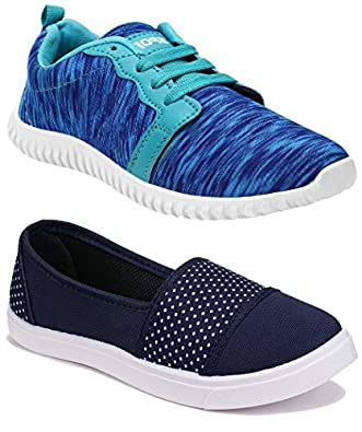 Shoefly Women Multicolour Latest Collection Sneakers Shoes- Pack of 2 (Combo-(2)-11031-1162)