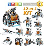 Lucky Doug Solar Robot Kit 12-in-1 Science STEM Robot Kit Toys for Kids Aged 8-12 and Older, Science...