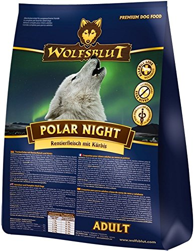 WOLFSBLUT POLAR NIGHT Alimento secco per cani adulti, con carne di renna e zucca