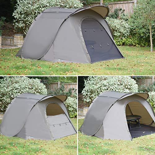 Quest Tackle Angelzelt 1-2 Man Mann Bivvy Karpfenzelt Karpfen Angeln Angehen Campingzelt Fishing Tent 5000mm Wassersäule