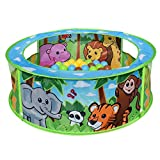 Sunny Days Entertainment 101998  Zoo Adventure Pop-Up Ball Pit with Colorful Bpa & Phthalates Free Crush-Proof Balls in Assorted Colors, Multicolor