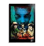 Stranger Things 2, Serie de Televisión - Pintura Enmarcado Original, Imagen Pop-Art, Impresión Póste...
