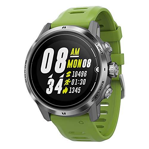COROS APEX Pro Premium Multisport-GPS-Uhr mit Herzfrequenz- und Pulsox-Monitor, 40-Stunden-GPS-Vollbatterie, Herzfrequenzüberwachung rund um die Uhr, Saphirglas, Touchscreen, Barometer (Silber)