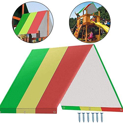 Schaukelset, Ersatzplane, 132 x 213 cm, Spielplatz-Baldachin, bunt, für Kinderspielplatz, Dach, Sonnenschutz, wasserdicht, für Kinder im Freien Gelb/Rot