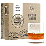 Unbreakable Cocktail Drinking Glasses: Shatterproof Tritan Plastic Glasses, Ideal for Whiskey or Scotch, Dishwasher Safe Tumblers, BPA-free, 12 Ounce Cup, Set of 4 by Cruvina