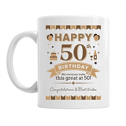 50th Birthday Gift Idea for Men, Keepsake for 50 Year Old, Coffee Mug