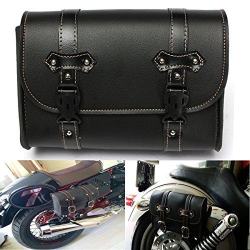 Forspero Bolsa De Cuero De La Silla De Almacenamiento De La Motocicleta para Harley Davidson