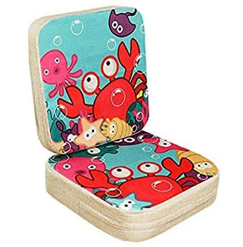 Lelesta Cuscino per Sedia da Pranzo per Bambini 2 Pezzi Cuscino per Sedia Rialzato per Bambini Regolabile Seggiolone Cuscino di Rialzo Cuscino per Sedia, 39 * 39 * 10 cm+39 * 39 * 5 cm (Granchio)