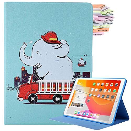 Capa Billionn para iPad 10.2 2020 iPad 8ª geração/iPad 7ª geração, ultra fina, leve, multi-ângulos de visualização, capa de poliuretano, hibernar/despertar, com bolso, elefante resistente
