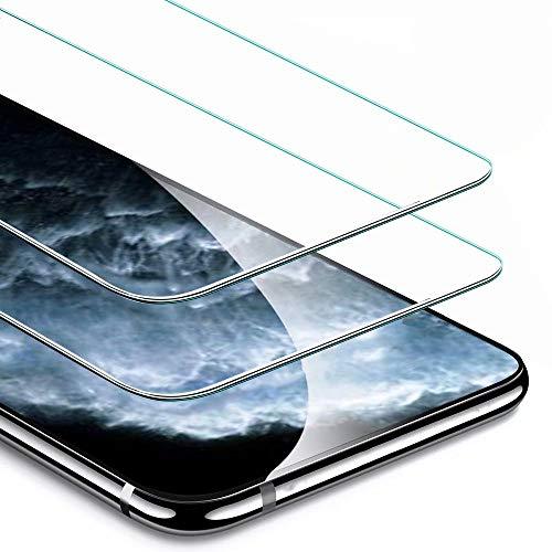 IPAKY iLovecover Pellicola Protettiva in Vetro Temperato per iPhone 11 PRO/iPhone XS/X [2 Pezzi] 9H Durezza Ultra Resistente Anti-Graffo,Impronta HD Chiaro Screen Protector