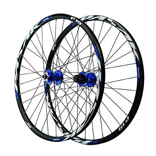 VPPV Ruote Bicicletta da Montagna 26 27,5 29 Pollici, Lega Alluminio Doppio Muro Freno Disco Cerchio MTB per 7 8 9 10 11 velocità (Size : 26 inch)