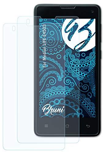 Bruni Schutzfolie kompatibel mit Medion Life E4503 Folie, glasklare Bildschirmschutzfolie (2X)