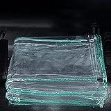 GGTT CLORURO DE POLIVINILO Tarra Transparente con Lona a Prueba de Lluvia Transparente Impermeable para el Ojal para la Carpa de Dosel, el Barco, la Cubierta de la Piscina, 500 g/m² (Size : 1×5m)