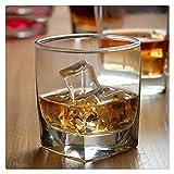 Aiglen 2 Piezas de Whisky para Beber Vasos de Vino de Cristal Ancho Vaso para Bar cóctel Vasos de Cerveza Cortos Copas de Brandy cigarro