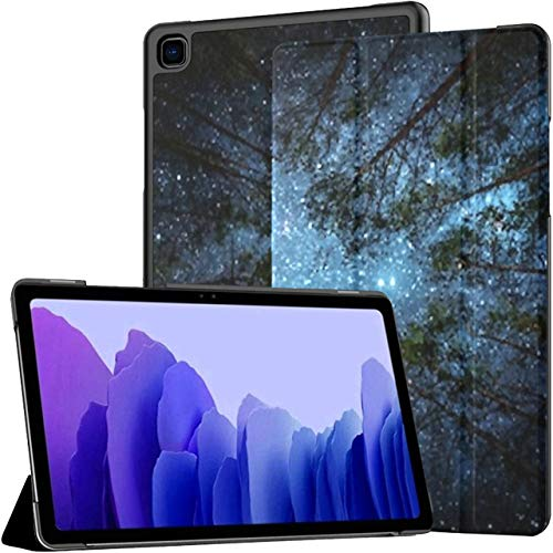 Funda para Samsung Galaxy Tab A7 Tableta de 10,4 Pulgadas 2020 (sm-t500 / t505 / t507), Hermoso Cielo Nocturno, árboles de la vía láctea, Soporte de ángulo múltiple, Cubierta con activación/suspens