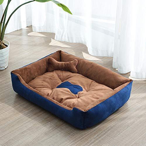 Cama para Perros de Felpa Suave y cálida Cama para Perros Cama para Dormir mullida sofá para Mascotas Perros pequeños y medianos de Varios tamaños -Perrera marrón_C-70 * 55 CM