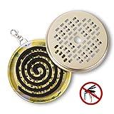 GWHOLE Porta-inciensos Antimosquitos de de Acero Inoxidable con Tapa para Interiores y...
