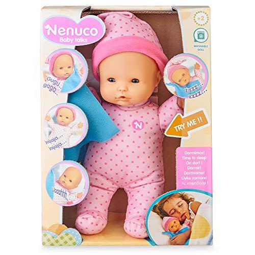 Nenuco-Baby Talks,Dormimos! Muñeca con Sonidos para niñas y niños a Partir de 1 año(Famosa 700016280)