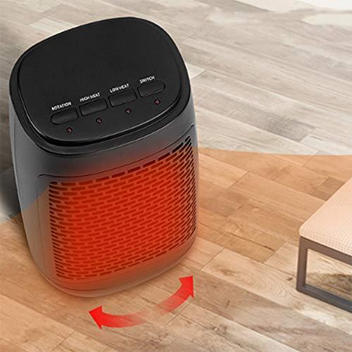 NXL Calefactor Eléctrico Calefactor De Aire Caliente Cerámico Calentador De Espacio Portátil,Protección Sobrecalentamiento,Calefactor Vertical, Termostato Regulable Sensor Antivuelco