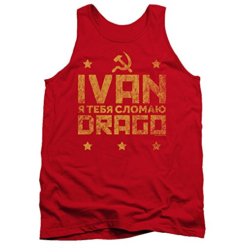Rocky IV Tanktop Ivan Drago Hammer and Sickle Red Tank