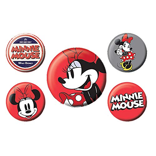 Original Disney Classic Minnie Mouse 5-teiliges Abzeichen Set Mickey