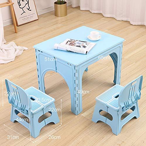 Tavolo Pieghevole per Bambini, Tavolo e sedie per Bambini, tavolino Portatile per Esterno