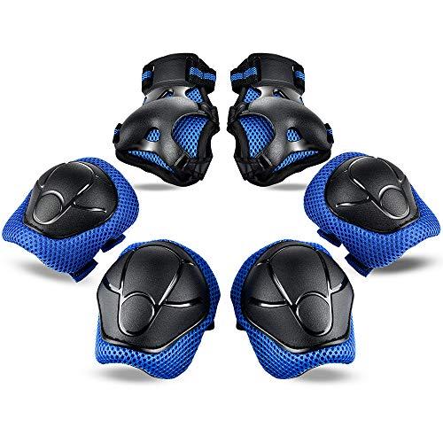 HailiCare Inliner Protektoren Set, 6 in 1 Knieschoner Kinder Ellenbogenschoner Handgelenkschoner Schutzausrüstungen Set für Skateboard Roller Radfahren Inline-Skate für Kinder