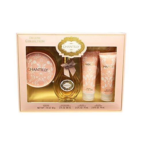 DANA Chantilly 4 Piece Fragrance Set for Women, 3 Fluid Ounce