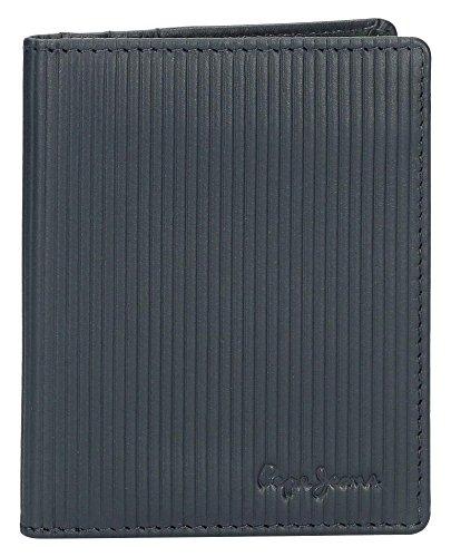Pepe Jeans Stripe Colors Tarjetero, 10 cm, 0.04 litros, Azul