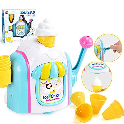 Canghai Baby-Badespielzeug, Badespielzeug für Vorschulkinder, Eismaschinen, Seifenblasenmaschinen, Spielsets, Badewannen-Spielzeug, Seifenblasen-Kegel, speziell für Jungen (mehrere Farben)