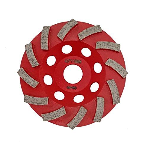 SHDIATOOL Muela de Copa Diamante 115mm Turbo Perfil Soldar para Hormigón Mármol Cerámica Piedra