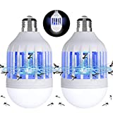 Gvoo - Juego de 2 lámparas LED antimosquitos, 2 en 1, E27, con luz, UV, eléctrica, matainsectos y mosquitos, para jardín, pasillo, granja, patio, balcón