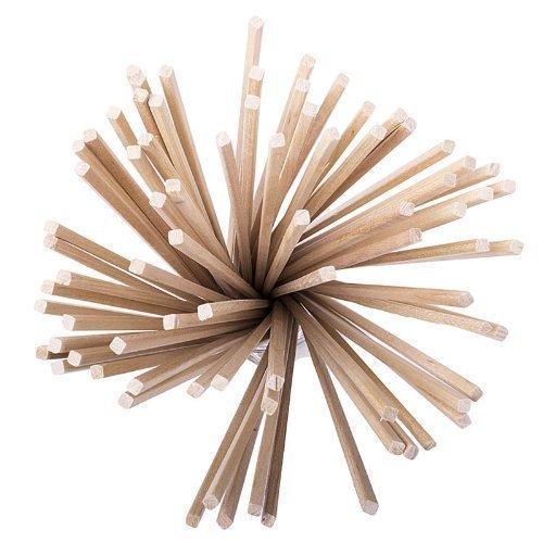 X 100 Tradicional Algodón de Azúcar Varillas 280mm X 3.5mm X 3.5mm Fairground por Loypack