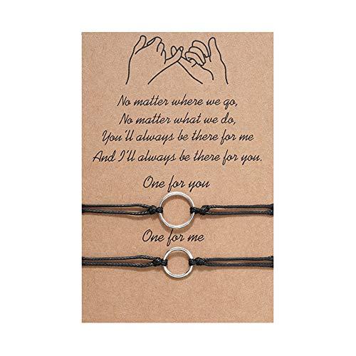 Pulsera para el amor, amistad, mejor amiga y mamá, con lunares, personalizable, 2 unidades, oro y plata