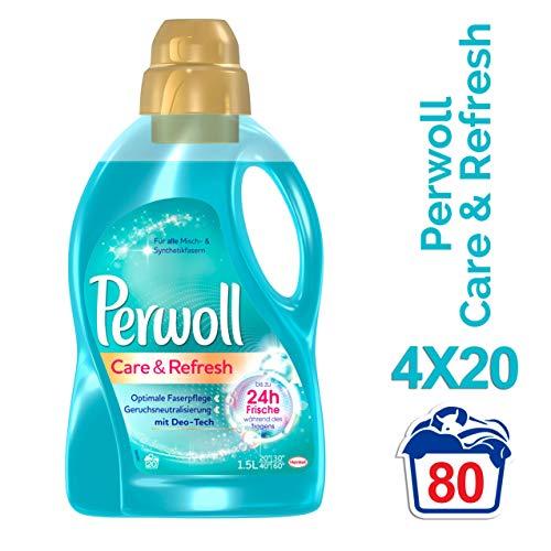 Perwoll Care & Refresh Spezialwaschmittel (für Synthetik und Mischgewebe) 4er Pack (4 x 20 Waschladungen)