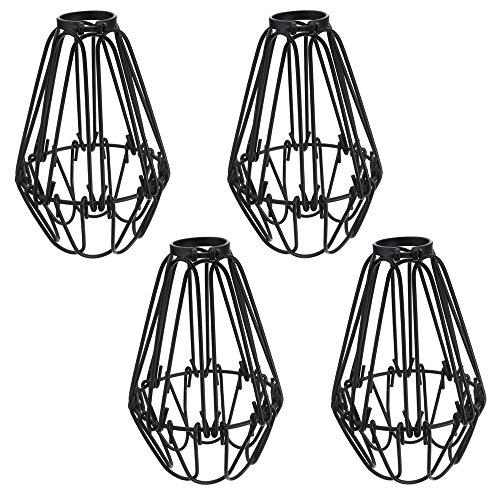 4x Vintage Käfig Draht Lampenschirm, MOTENT Retro Industrielle Metall DIY Stehlampe Pendelleuchte 4,13