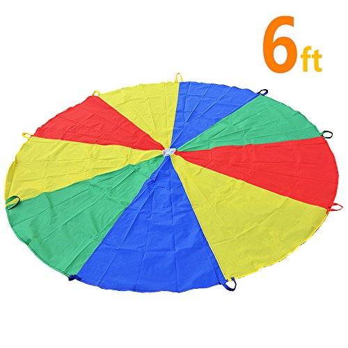 Kids Play Parachute 6ft 8ft Only $11.19